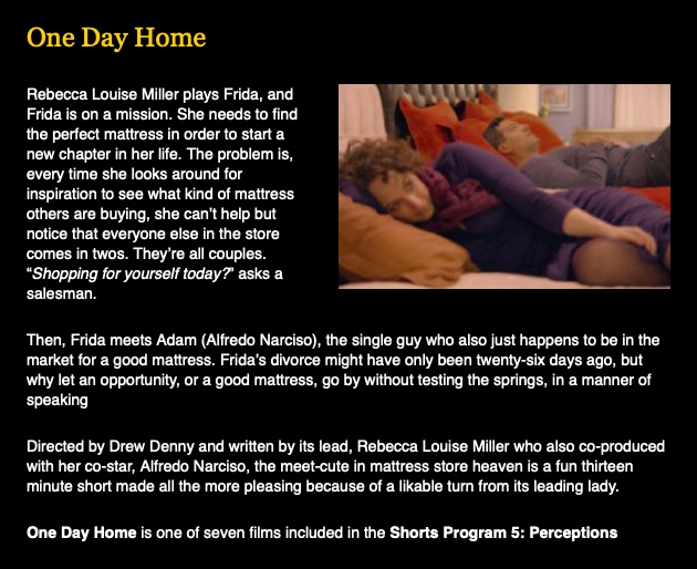 One Day Home, Sedona Film Festival, Rebecca Louise Miller, Drew Denny, Alfredo Narciso