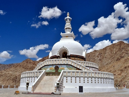 This is a famous Stupa in Ladakh