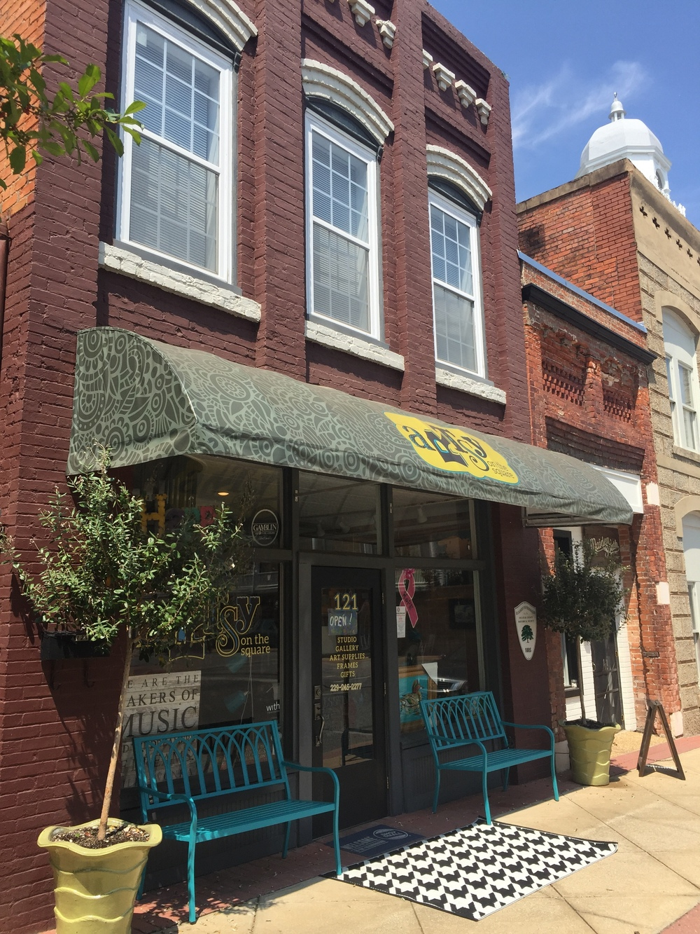 Artsy On The Square-Awning Design, Print, Installation