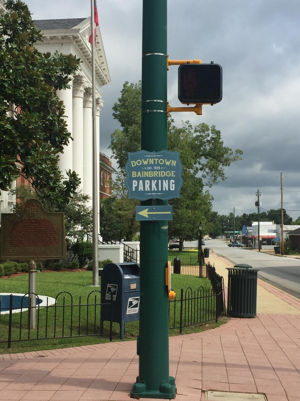 Downtown Bainbridge Direction Sign-Design, Print
