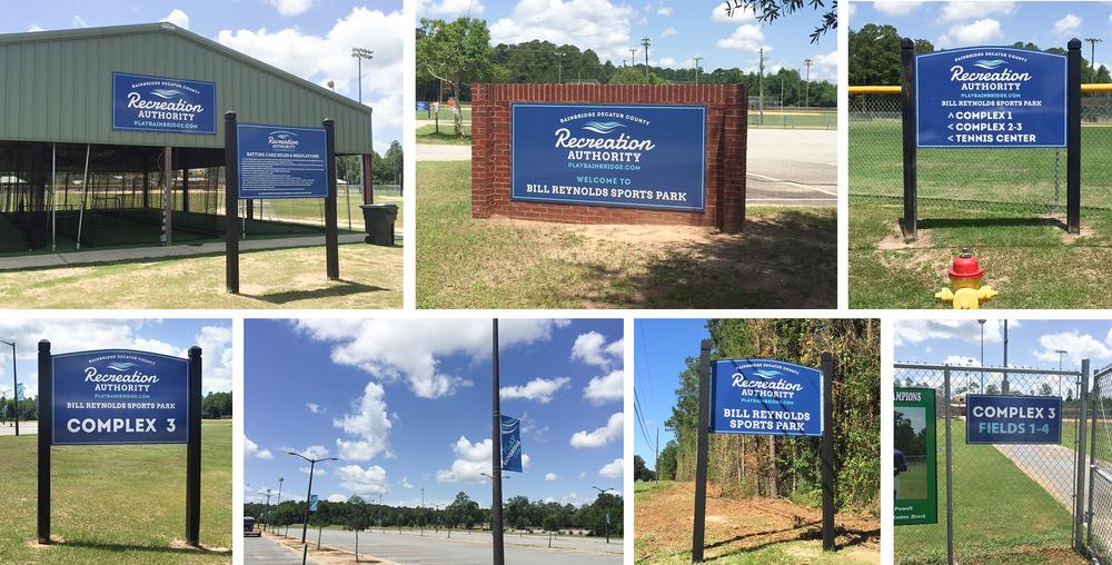 Bainbridge Decatur Co. Recreation Authority Sports Complex (Design, Print, Installation)