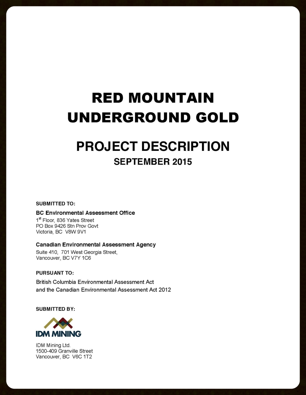 Project Description Report