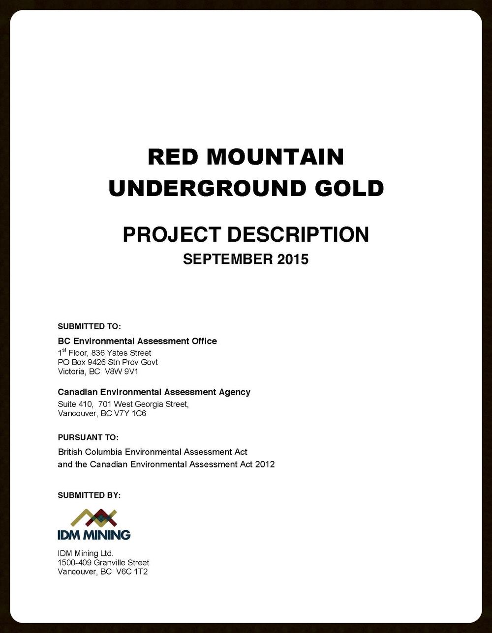 Project Description Report