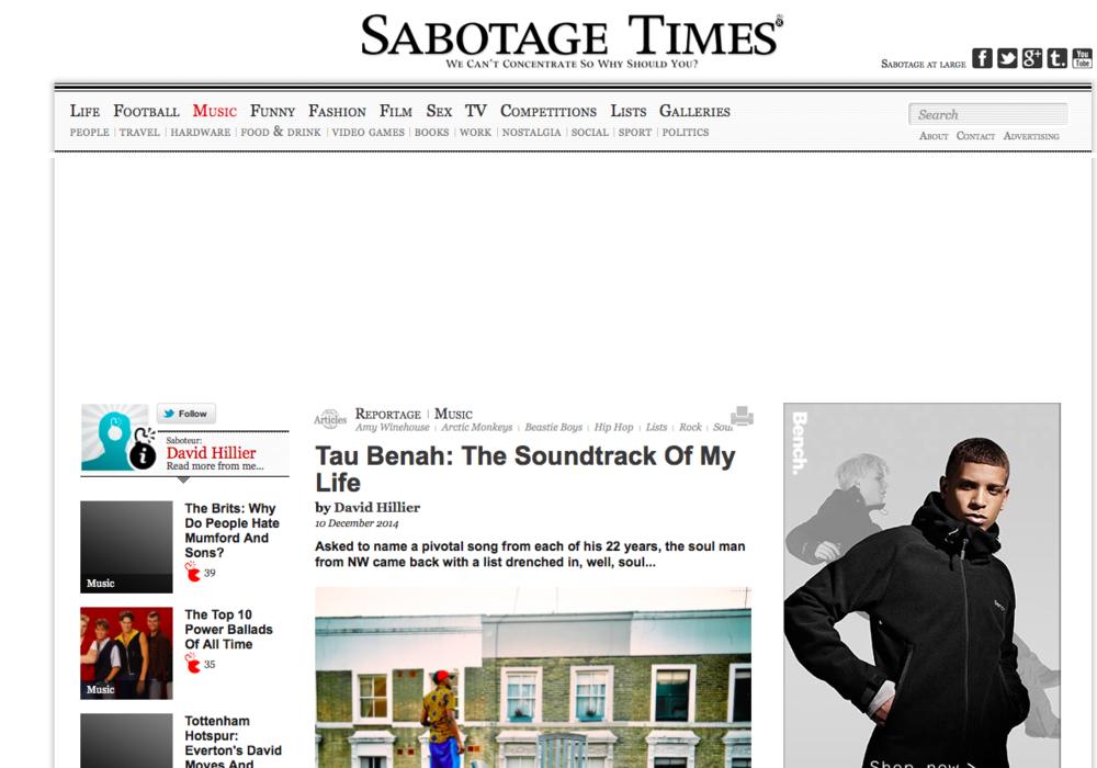 Tau Benah Sabotage Times