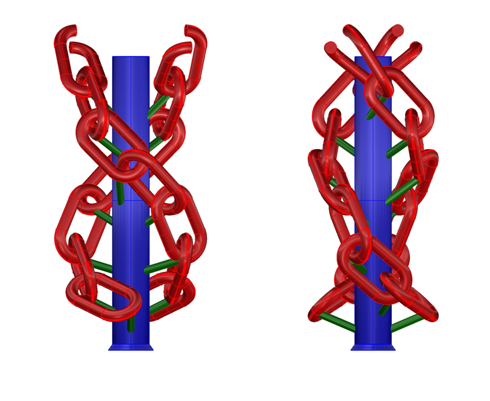 Interlocking link chain wax tree for Investment casting conceptualized in Rhino 3D