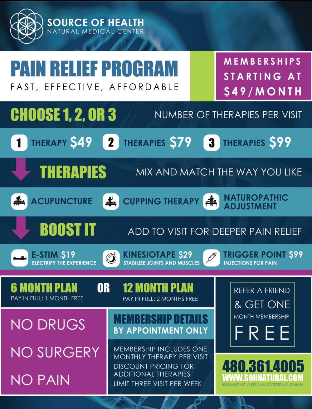 Source of Health Pain Relief Program