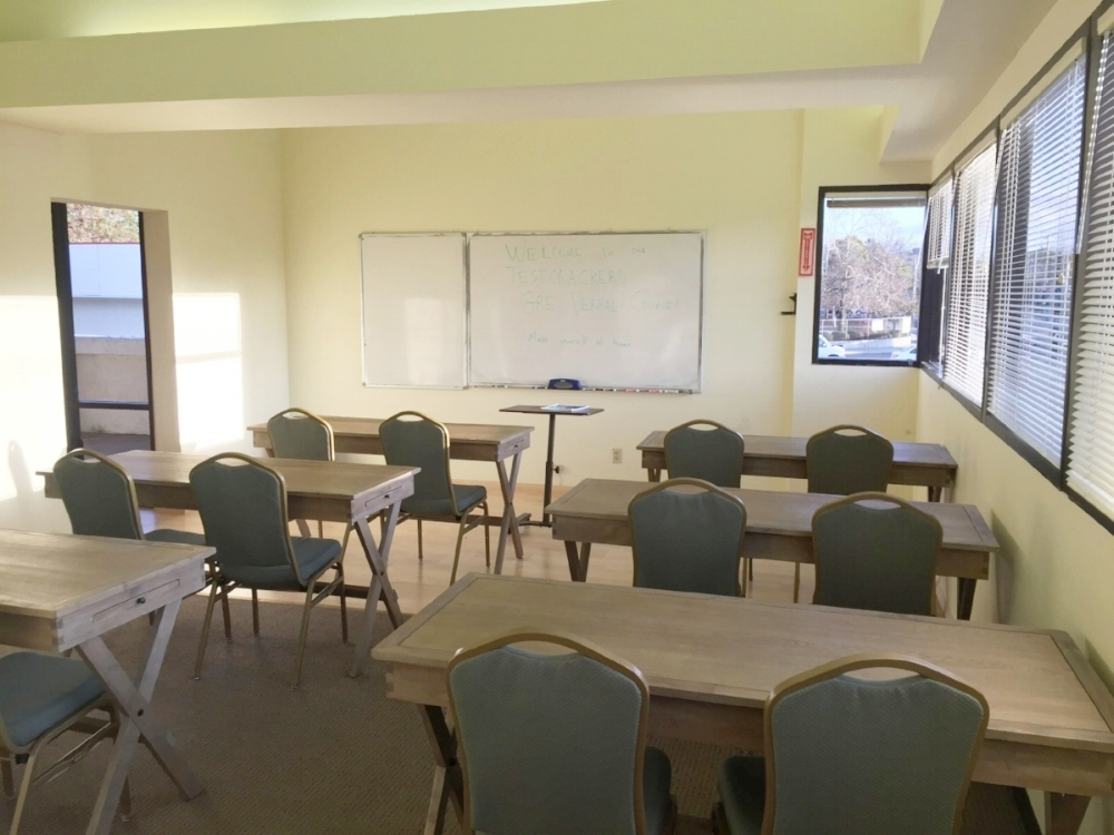 Our quant and verbal classroom in Santa Clara, CA - near San Jose, Mountain View, Cupertino, Palo Alto, and the entire South Bay!