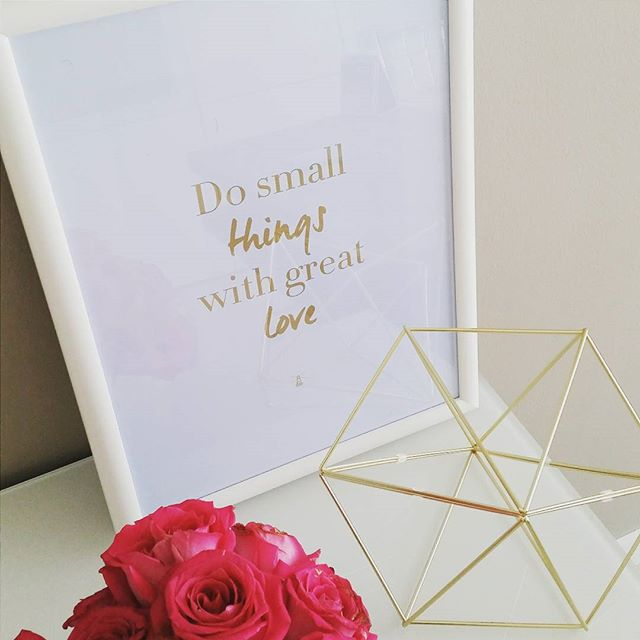 """Do small things with great #love."" Snapped this pic today while with our always-inspiring client @lighthousearabia @salihaafridi.  #inspiration #words #quote #care #details #beauty #design #interiors #work #life #Dubai #mydubai #happydubai #UAE"