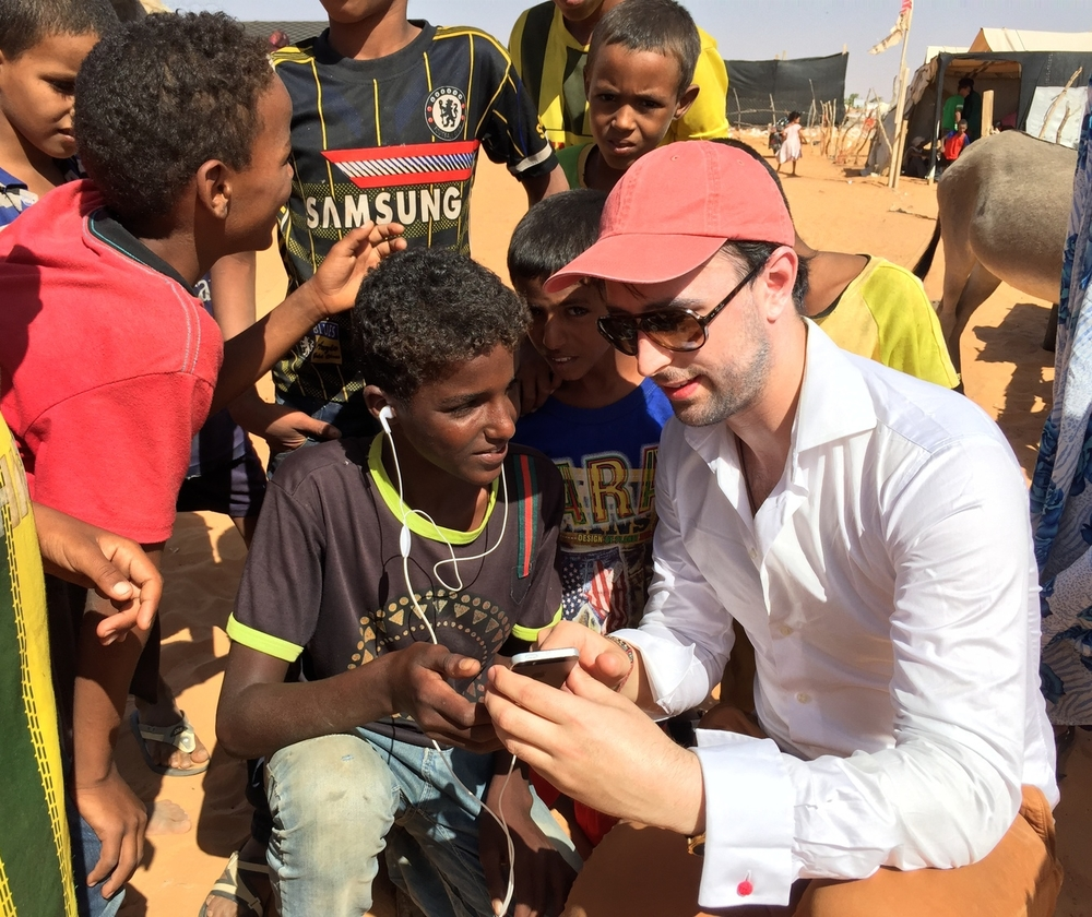 A quiet environment is required for an accurate mobile hearing test: Outdoors at the refugee camp is not ideal!