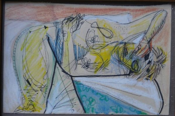 Watercolor & pen on paper