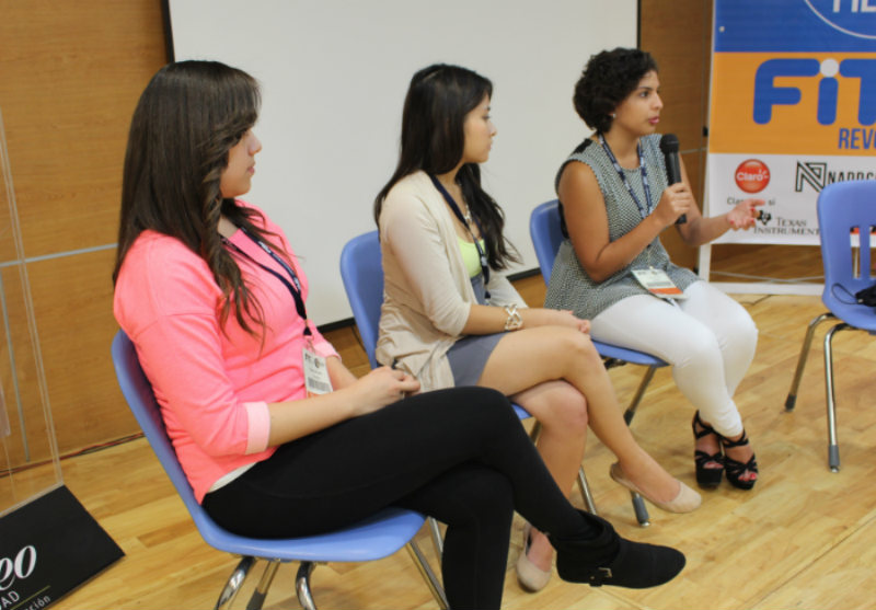 Estefania, Rebecca & Andrea in Women in Technology Panel FIT 2014