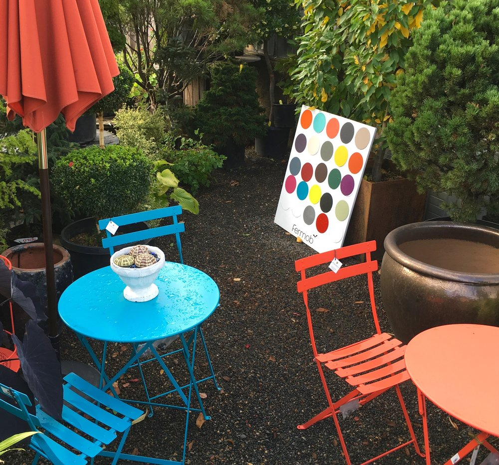 Fermob Bistro Tables and Chairs