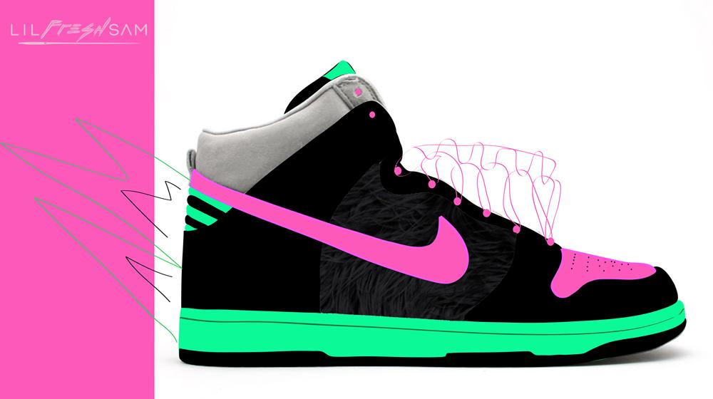 Custom Shoe Design for Nike Dunks by LILFRESHSAM