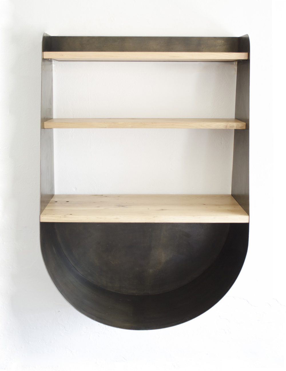 Wood storage + shelving / Commission