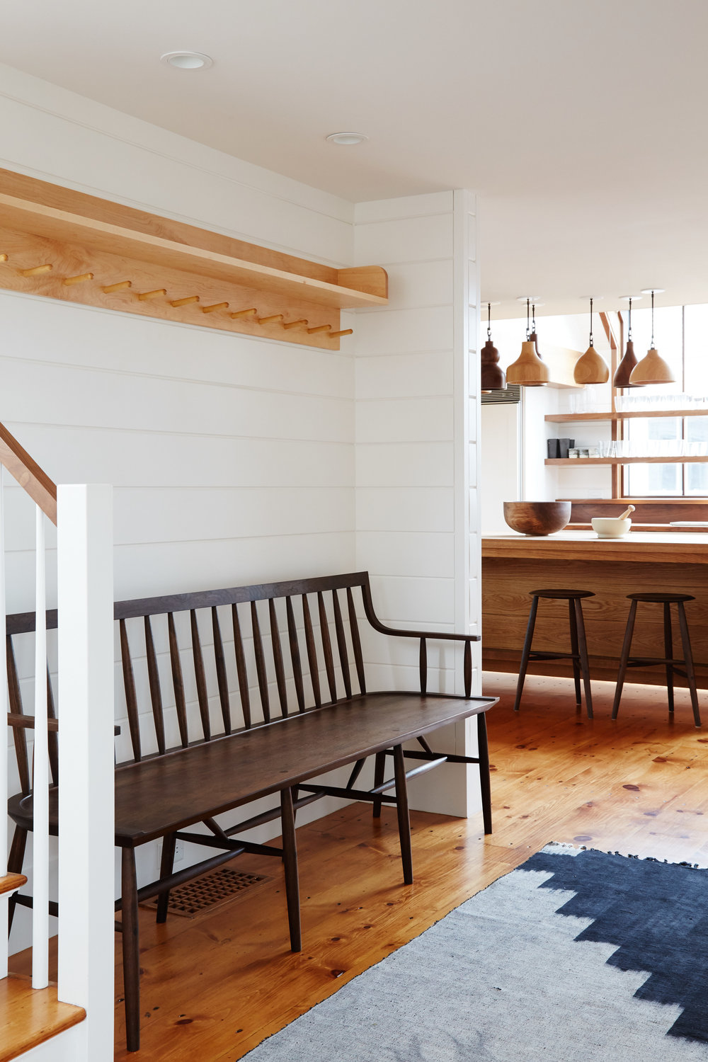 Custom shelf designed by Shelter Collective, fabricated by Marshall Farm Woodworks