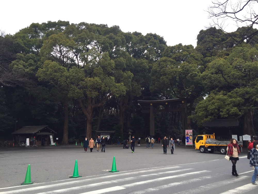 The gate to Meiji Shrine