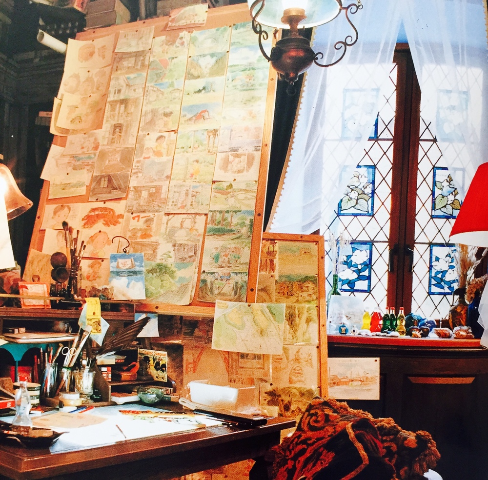 "The animator's ""workshop"" - pretty cozy!"