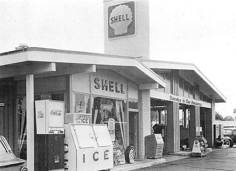 Shell Service Station, 1960's