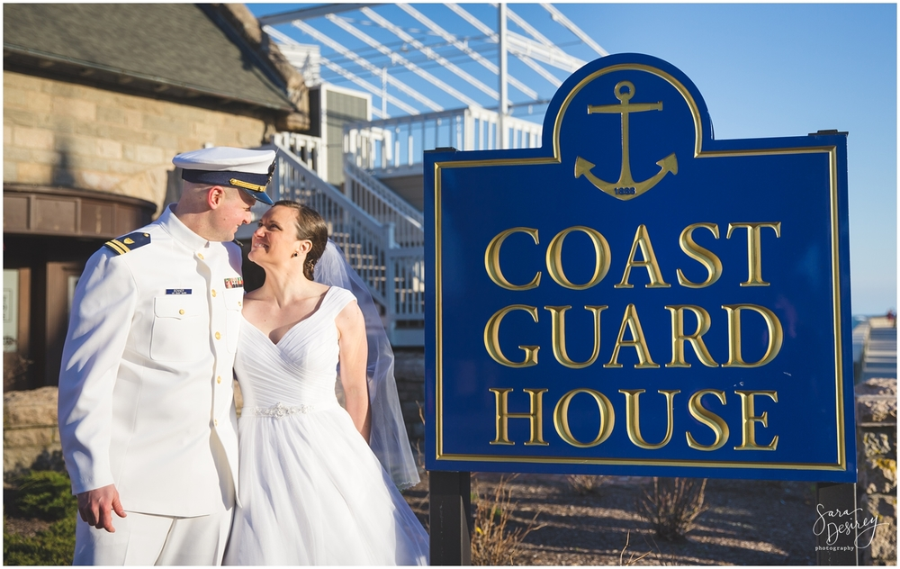 A photo op was necessary at  The Coast Guard House !