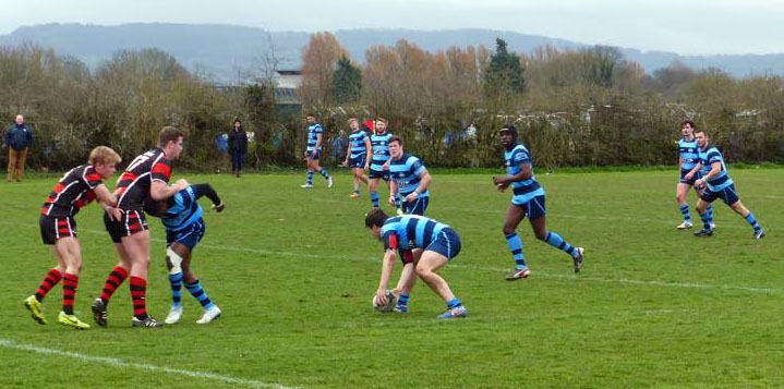 Photo by Jef Bale of the Bears in action in Gloucester
