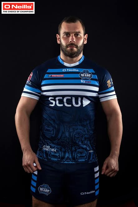 Coventry Bears prop James Geurtjens pictured in the new jersey