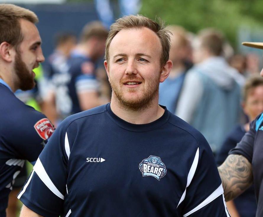 Bears assistant coach Jonny Tuson