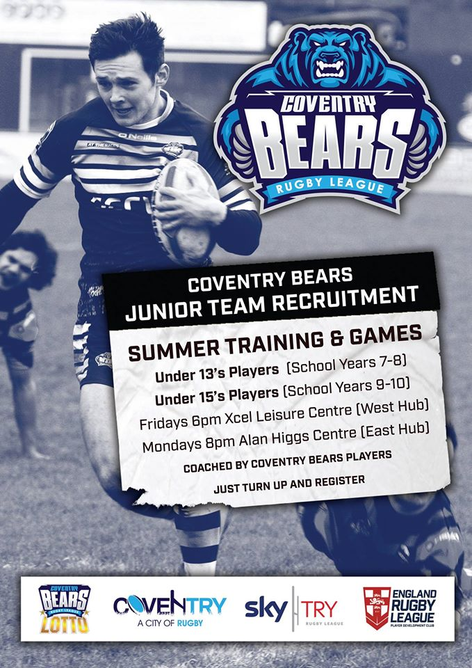 Hayden Freeman former Bears Junior, now professional Coventry Bears Rugby League player