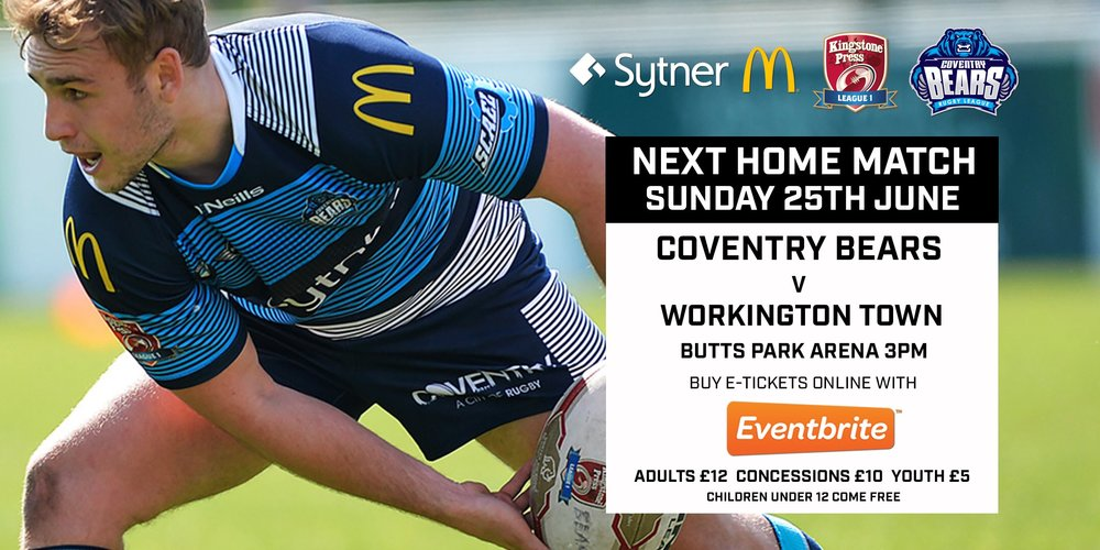 Next match we play Workington Town at Home    click here to buy tickets