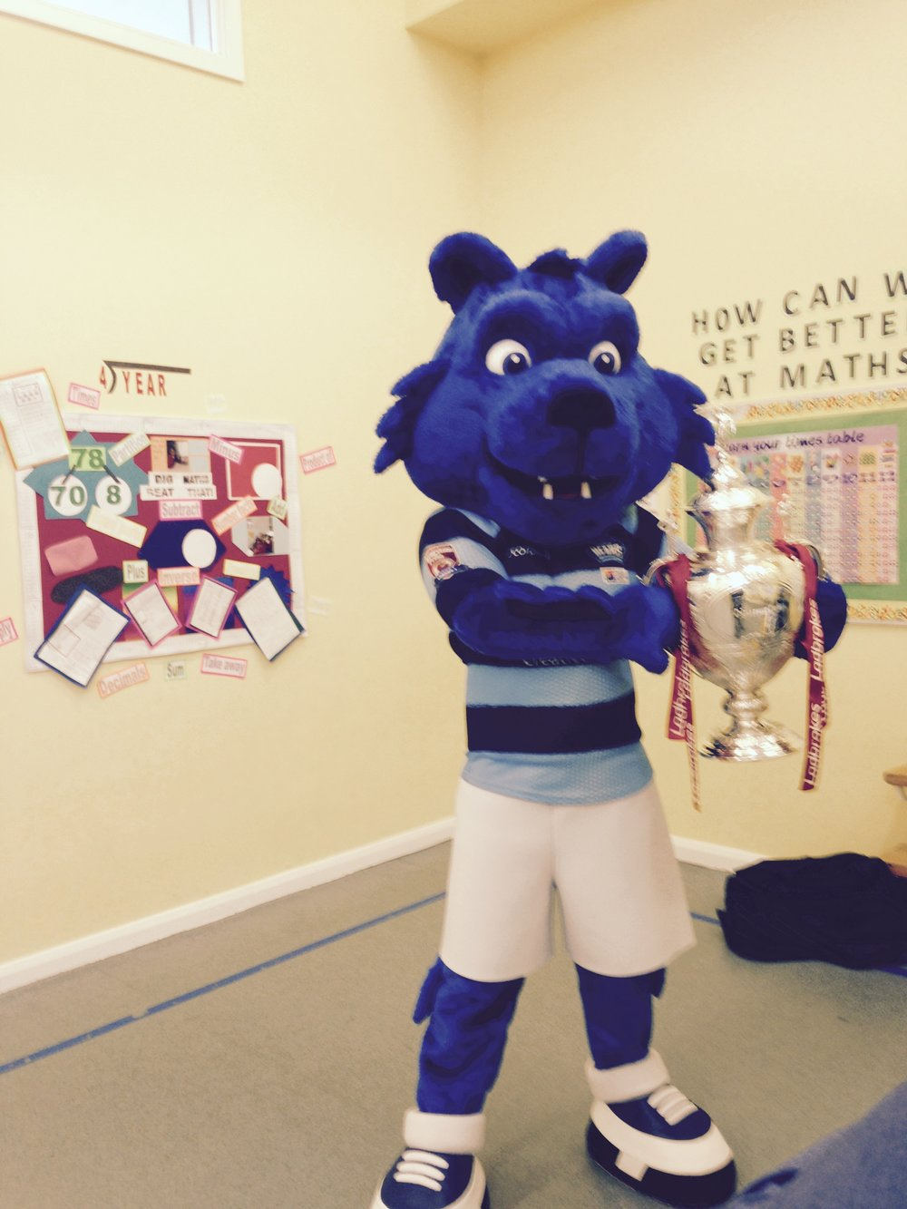 Taking the Challenge Cup around the city to schools