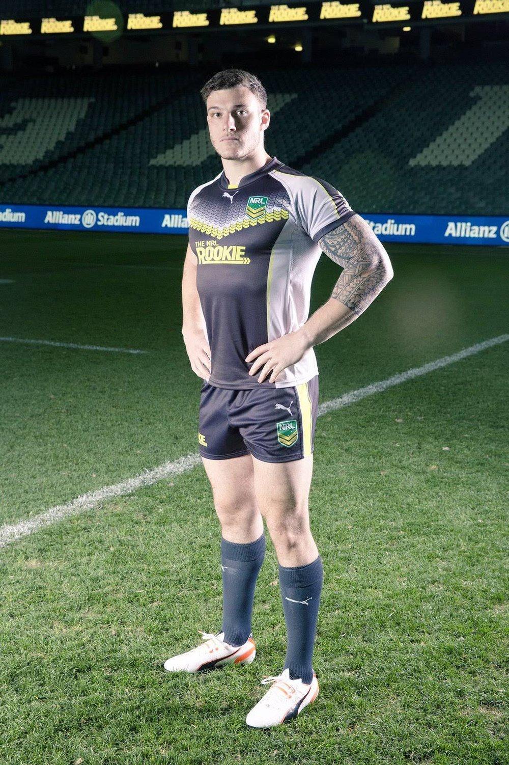 Luke Frixou on the NRL Rookie Show in Australia