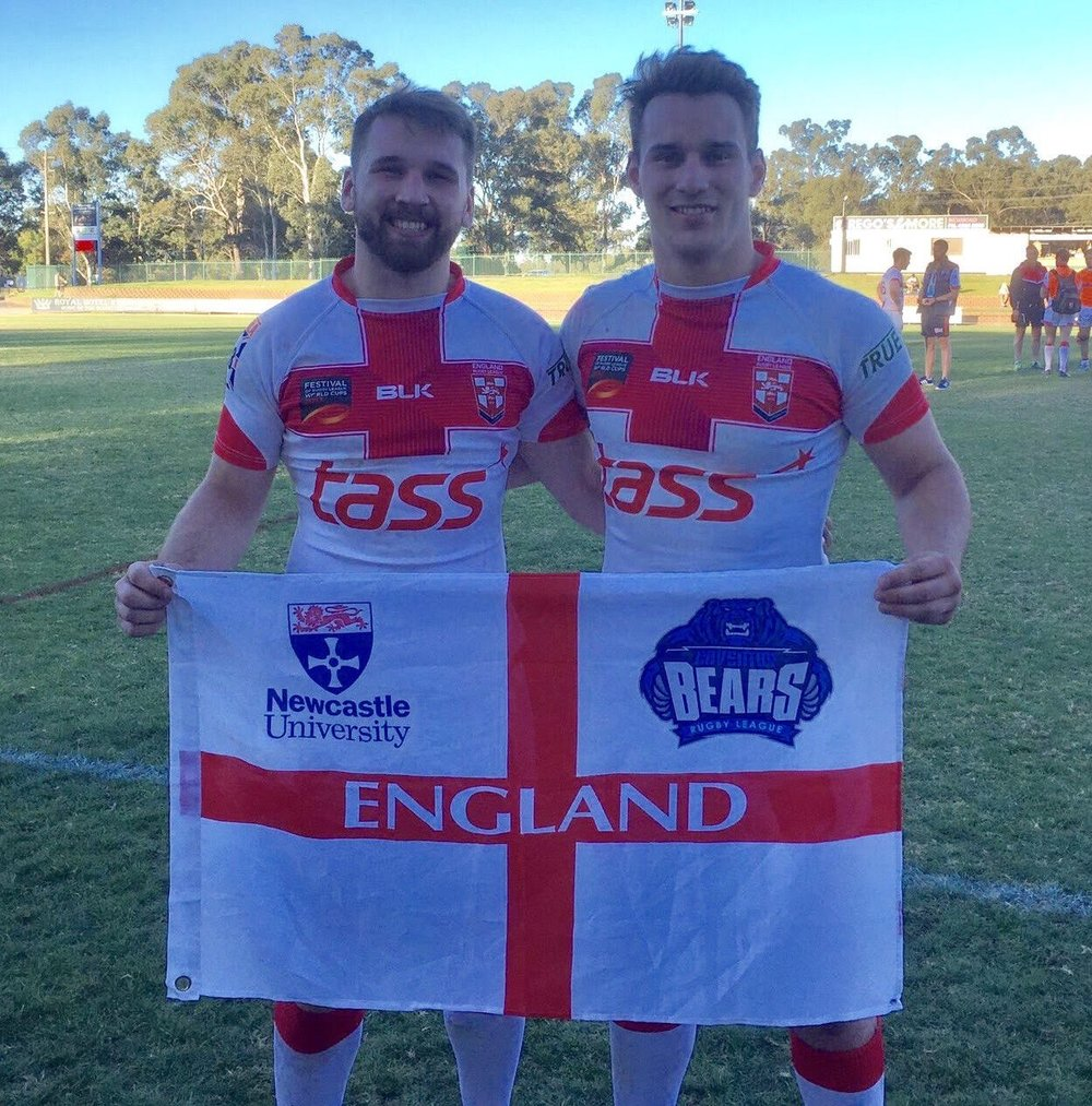 Bears Jason Bass, Newcastle University and Kieron Sherratt, Coventry University represent England.