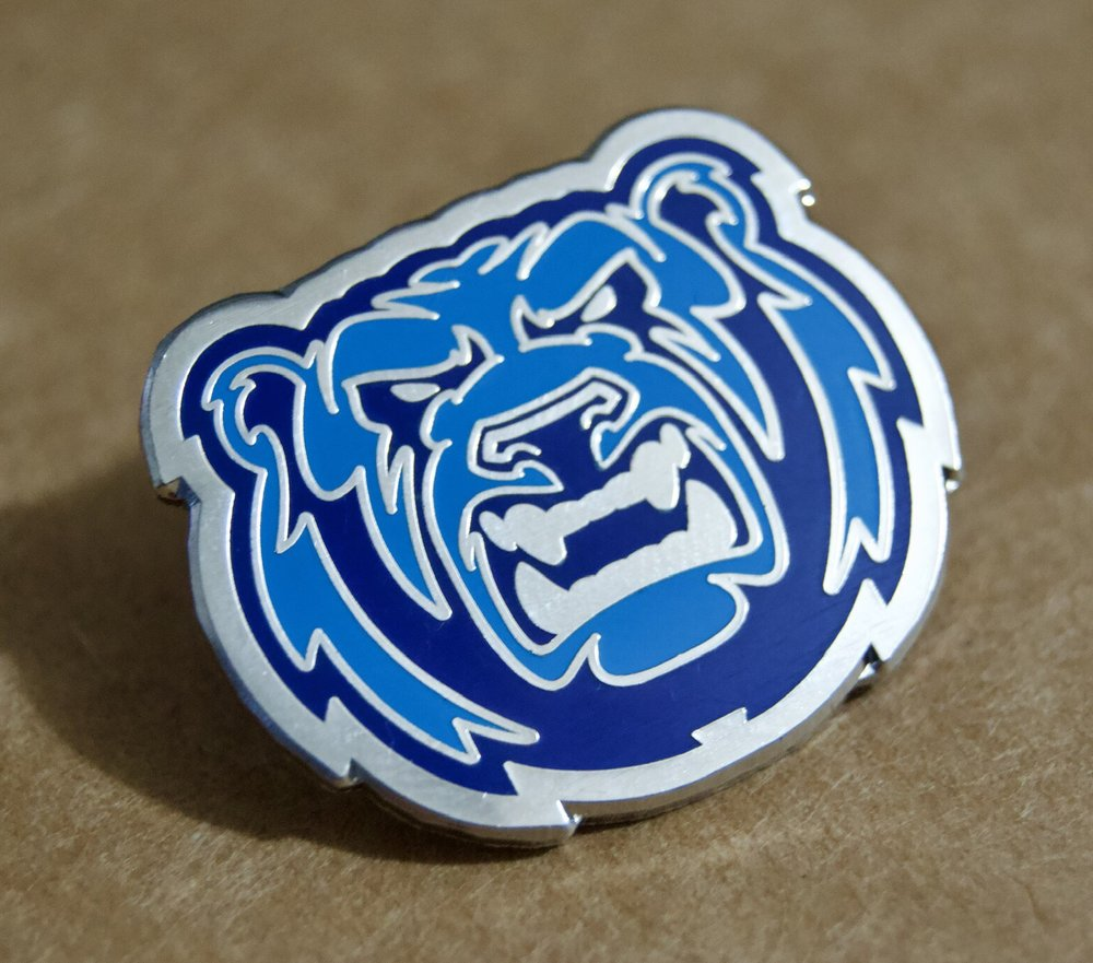 Bears exclusive pin badges (3 cm across)
