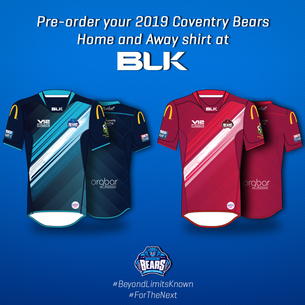 Bears strike bold look for 2019 — Coventry Bears Rugby League