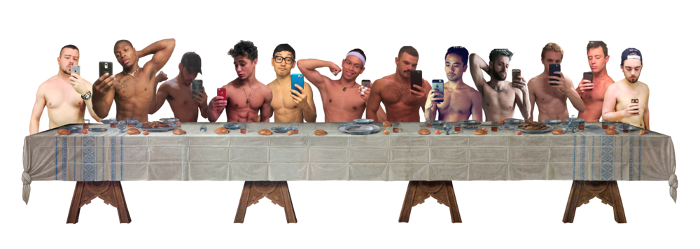 "after leonardo da vinci's ""the last supper"""