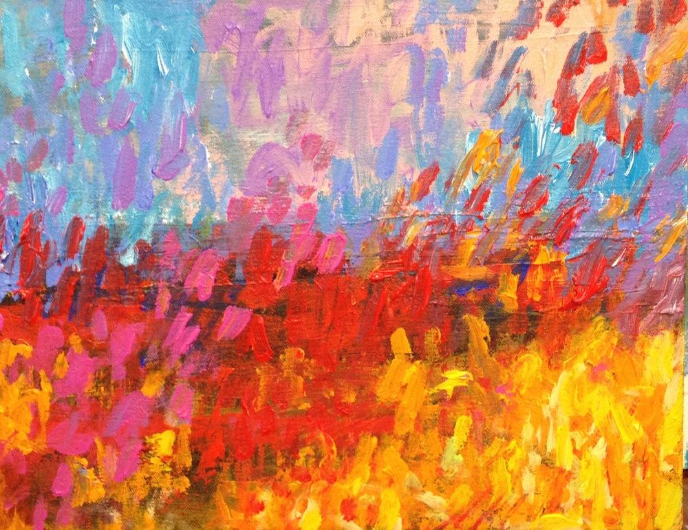 Sunny Day I<br/>24x24 acrylic on canvas