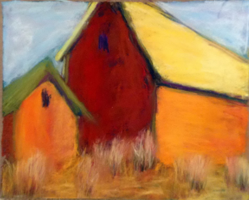 Barn I<br/>11x15 pastel on paper