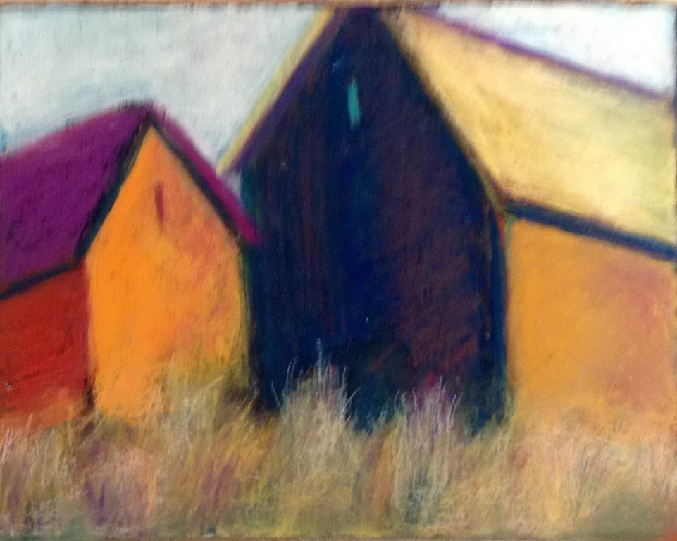 Barn II<br/>11x15 pastel on paper