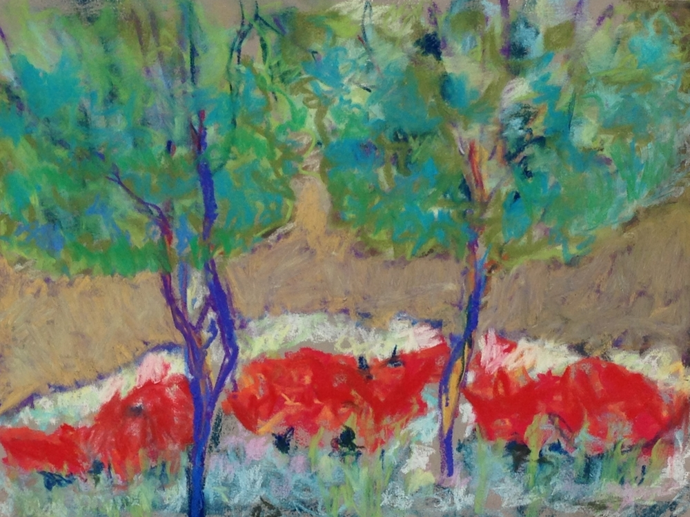 Cylburn Woods-Summer<br/>18x16 oil pastel