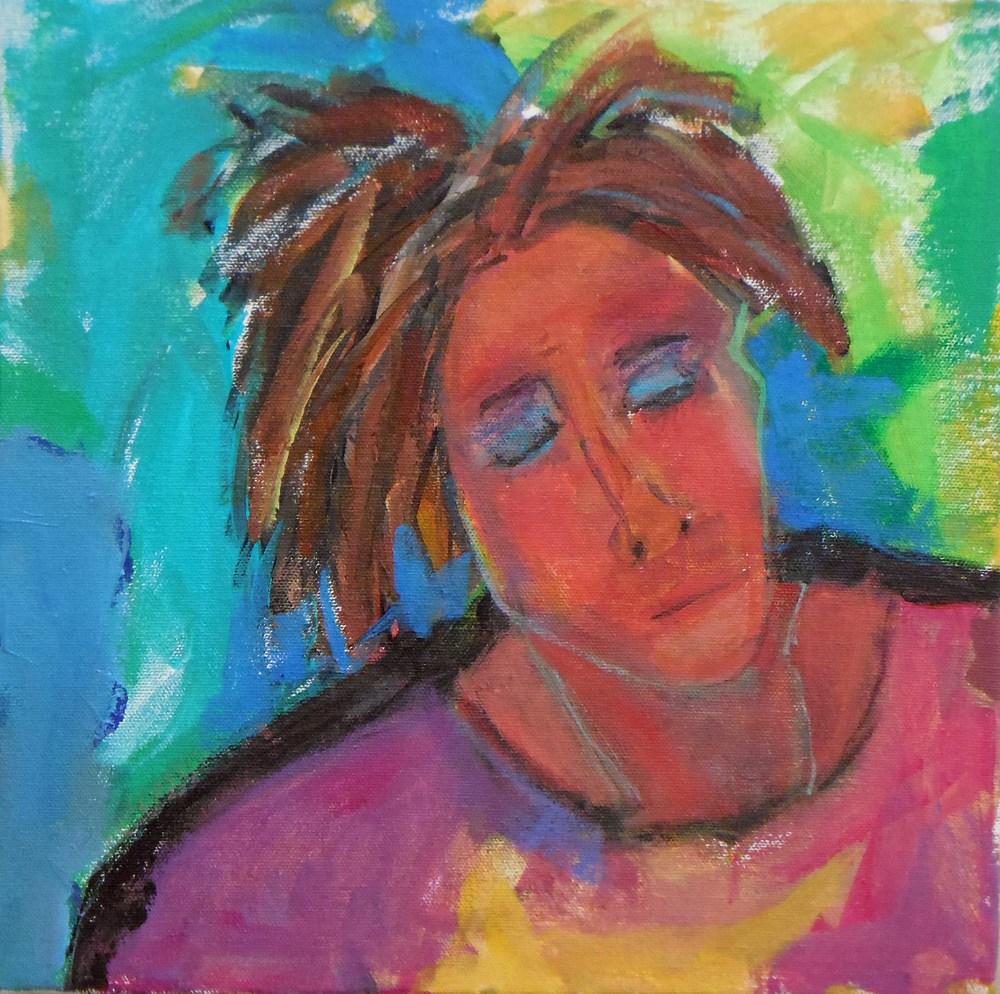 Eyes Wide Shut<br/>12x12 acrylic on canvas