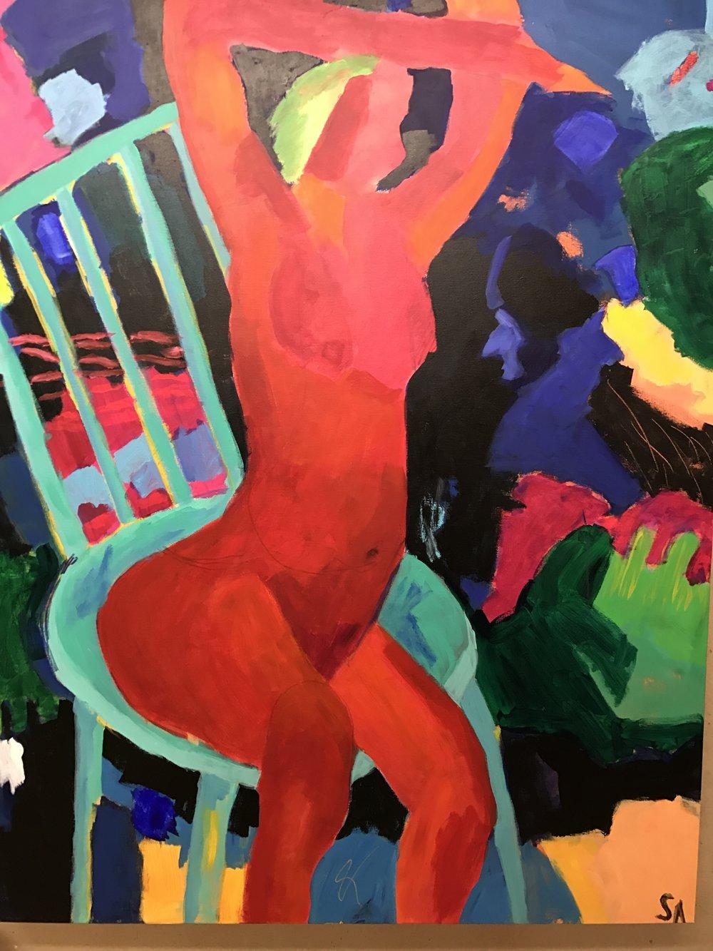 Morning Stretch<br/>60 X 48 acrylic on canvas