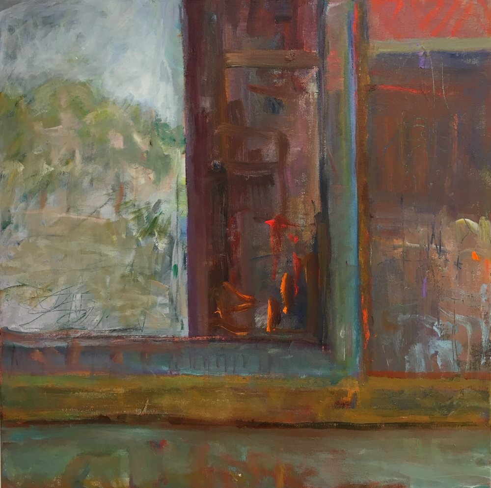 Barn Window<br>24x24 acrylic on canvas