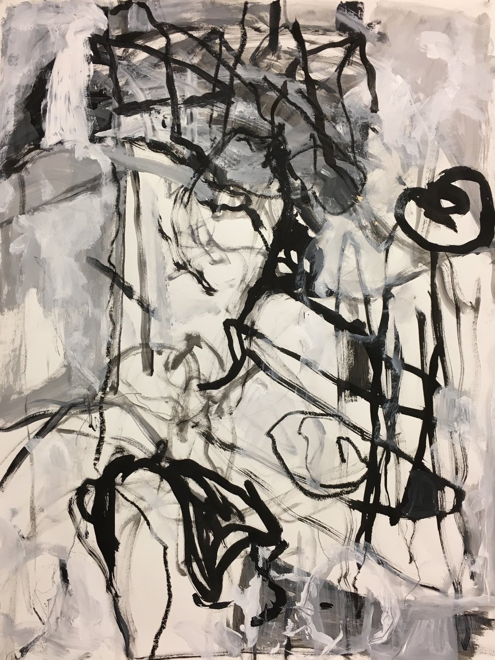 Blindfold #1<br>22x30 acrylic on paper