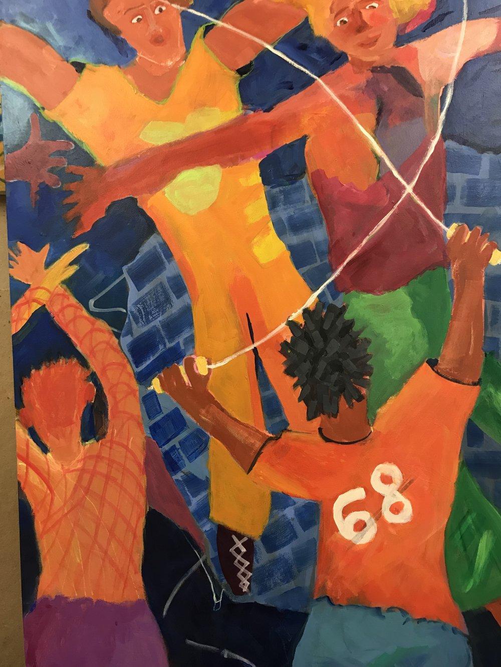Double Dutch<br/>40x30 acrylic on canvas