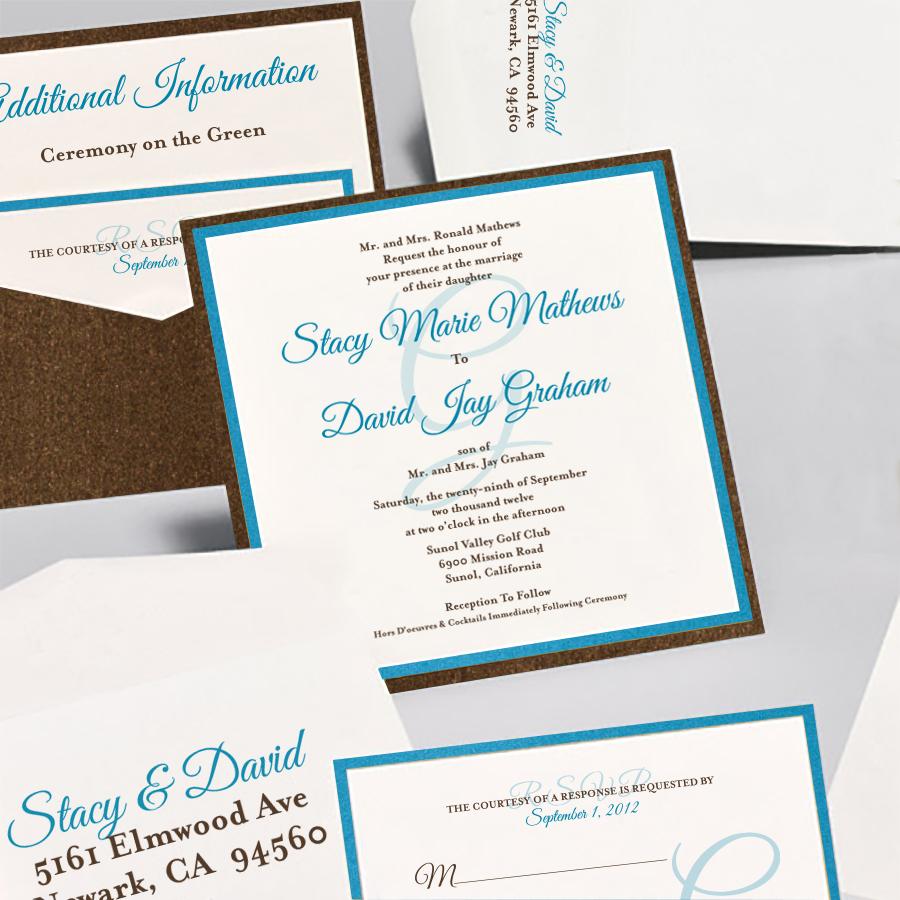 Square Invitation with awesome invitation sample