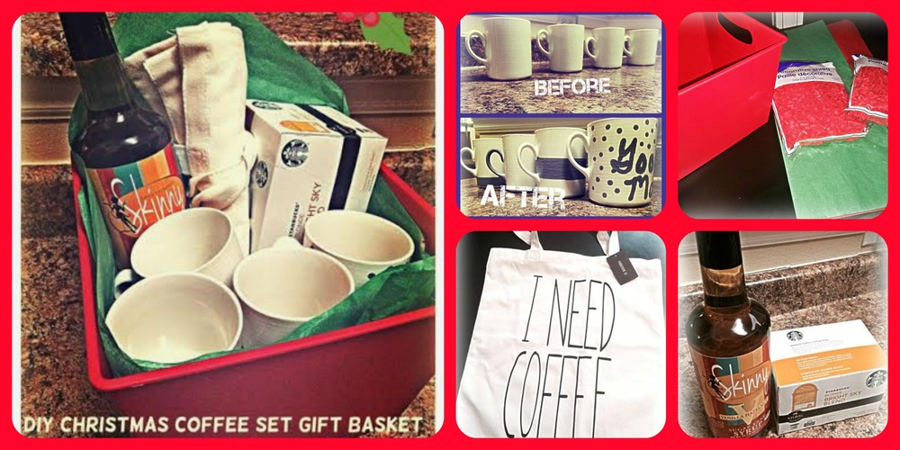 Here are all of the elements that went into putting together this Coffee Gift Basket.