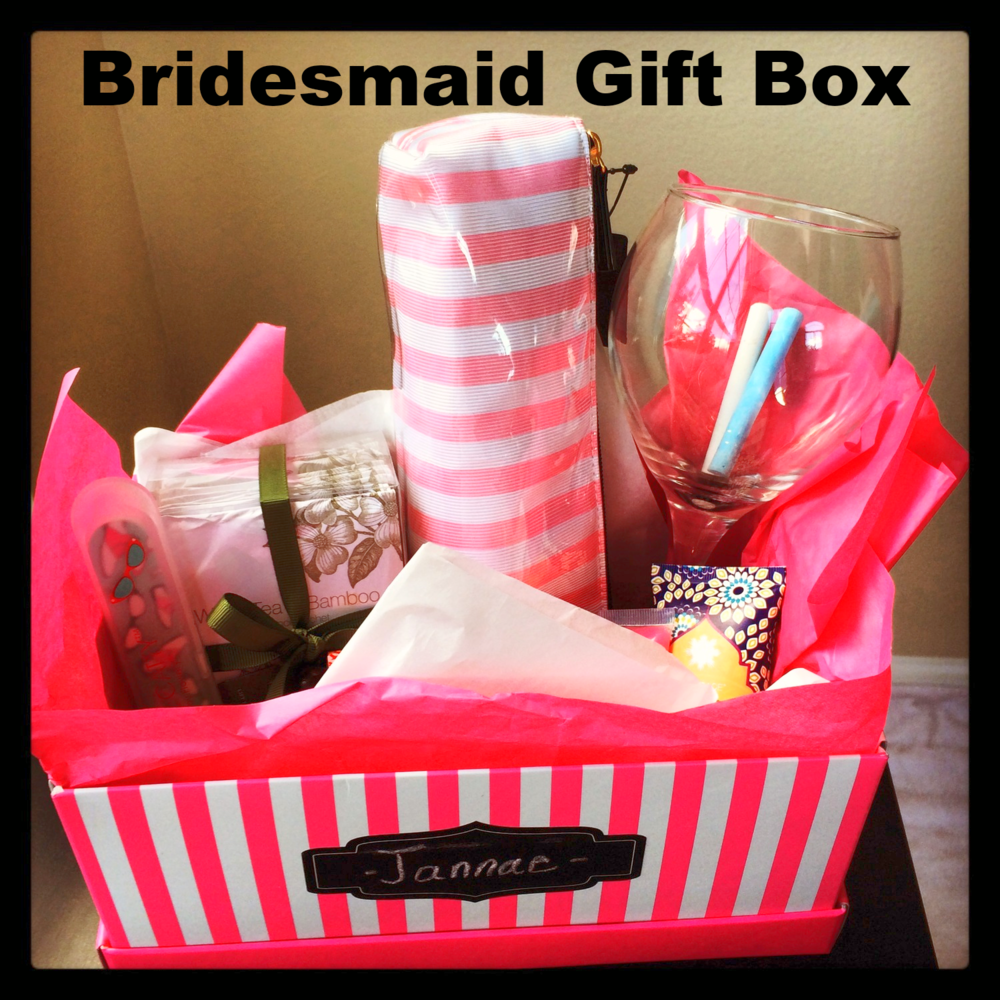 Cute Wedding Gift Ideas Diy : Bridesmaids Gift Box : Gift idea for your bridesmaids - According To ...