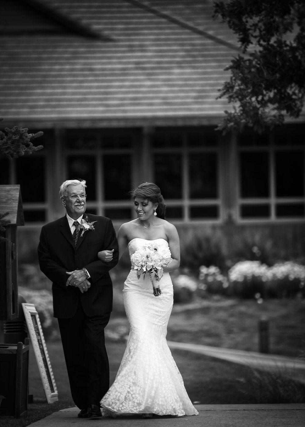 my amazing grandfather walked me down the isle
