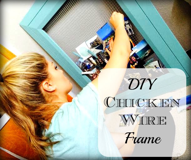 Clothes Pin & Chicken Wire Photo Display — According To D