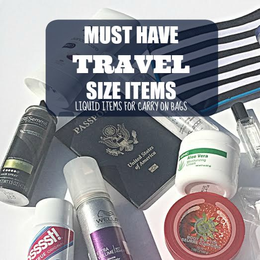 Travel size items