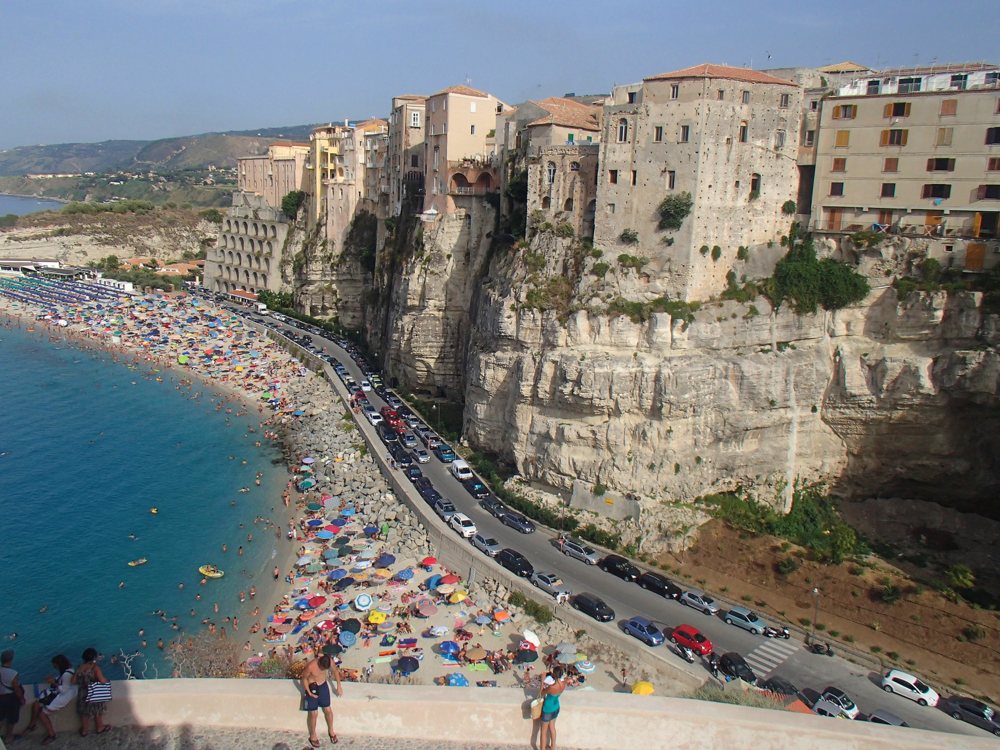 The cliffs of Tropea Italy
